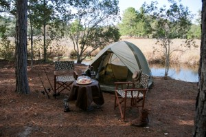 The splendour and adventure of a seculeded camp site .